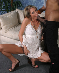 20 Inches of Dark Dick Free Interracial Gangbang Video
