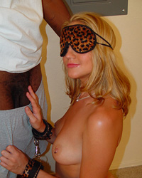 Bound And Blindfolded - Blindfold  interracial threesome fuck suck