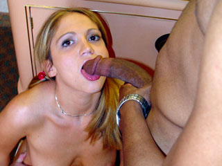 Eating Black Cum Gangbang